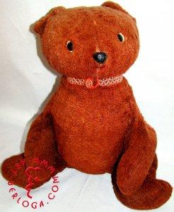 Реставрация мягкой игрушки Медведь (40 лет).