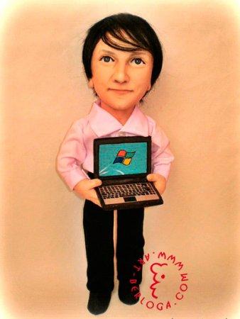 Портретная кукла - Программист.