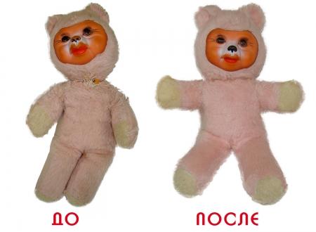 Реставрация мягкой игрушки-куклы.