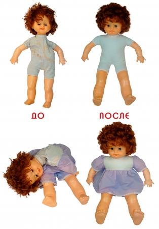 Реставрация и обновление тела куклы.