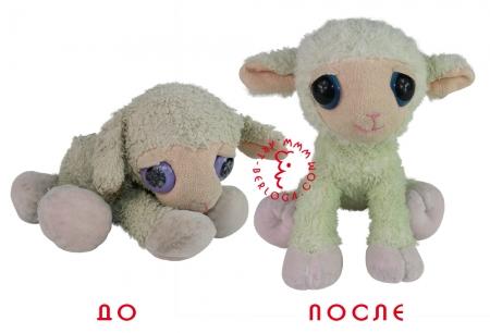 Реставрация любимой плюшевой овечки