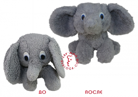 Реставрация плюшевого слоника