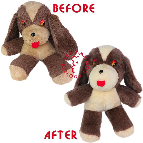 Реставрация любимой плюшевой собаки