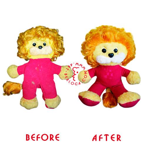 Ремонт мягкой игрушки львенка