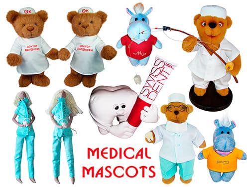 Бренд маскоты медицинские