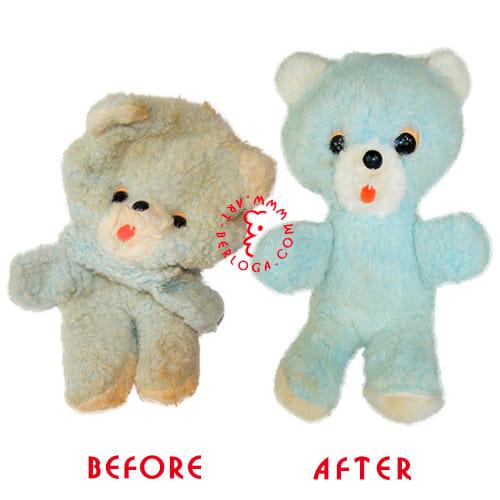 Восстановление мишки голубого цвета