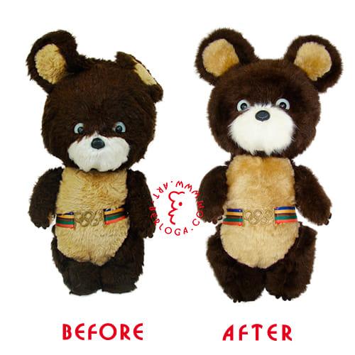 Реставрация винтажной игрушки мишки