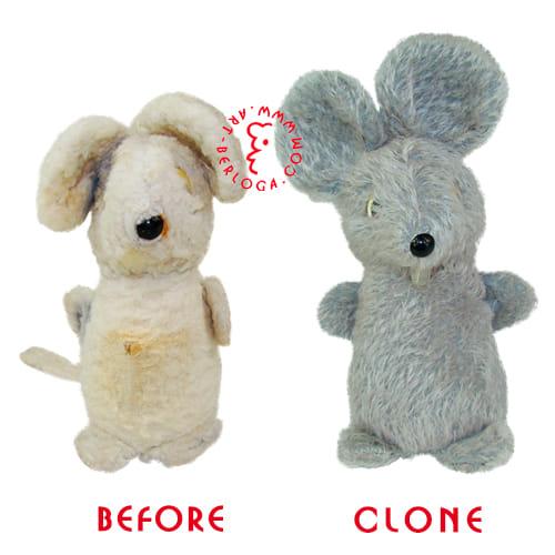 Плюшевое клонирование мышонка