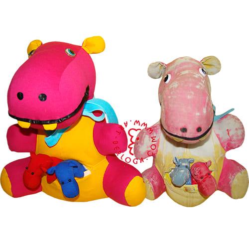 Пошив копии игрушки бегемота