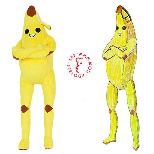 Плюшевая игрушка бананамен