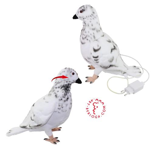 Интерактивный плюшевый голубь