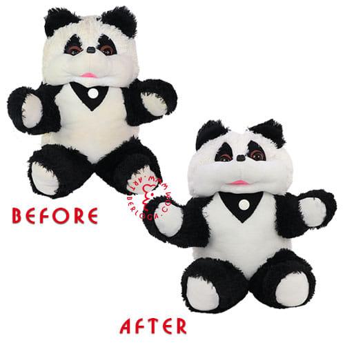 Реставрация 20-летней плюшевой панды